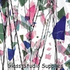 Spring - Blue/Green/Aqua/Pink on Clear Collage Glass (4110-00)