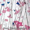 Light Pink, Blue and White on Clear Collage Glass (4120-00)