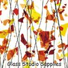 AUTUMN: Orange, Yellow and Red on Clear Collage Glass (4111-00)