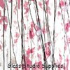 Clear - Deep Pink, Light Pink, and White Collage Glass 4115-00