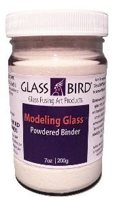 Modeling Glass Powdered Binder Refill Jar