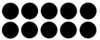 3mm Black Bullseye Precut Circles (0100)